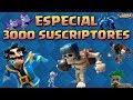 🔴 Especial 3000 Suscriptores - Torneo 2000 Gemas + Sorteo de Tarjeta $10 - Directo de #ClashRoyale