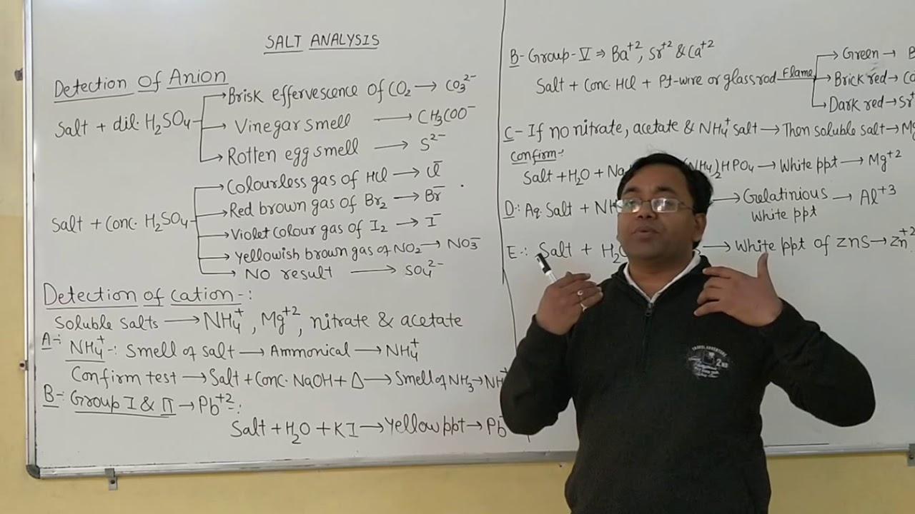 Salt analysis in 5 min/ 12 class salt analysis/ Chemistry salt analysis
