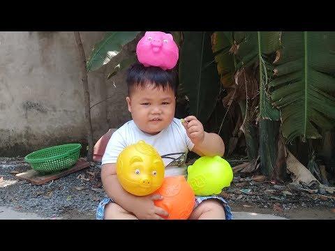 Đồ chơi trẻ em bé pin heo con thần kỳ ❤ PinPin TV ❤ Baby toys pig miracle