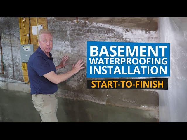 Basement Waterproofing Installation - Start to Finish