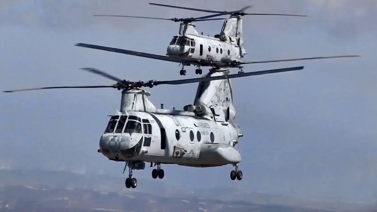 "USMC CH-46 Sea Knight ""Phrog"" • Last Flight Over San Diego"