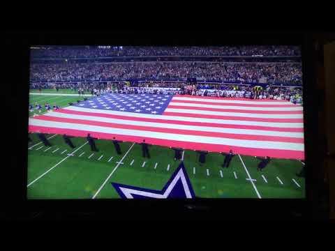 Freddie Jones performs National Anthem at Redskins @ Cowboys NFL Thanksgiving Game