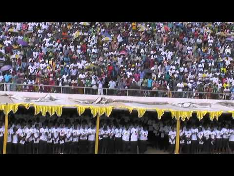 Pope in Central African Rep - Holy Mass in the Stadium at the Barthélémy Boganda Sports Complex