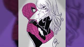 Человек паук и черная кошка золотая осень