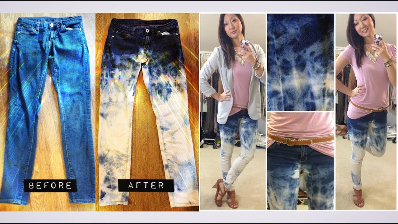 diy bleached jeans (zara inspired) + styled ootd - youtube