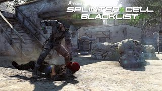 Tom Clancy's Splinter Cell Blacklist Stealth Kills & Takedowns Gameplay  - Insurgent Stronghold