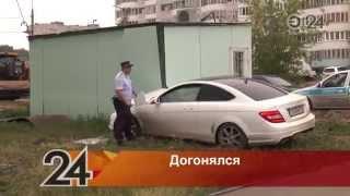Гонки по городу с сотрудниками полиции устроил водитель Mercedes