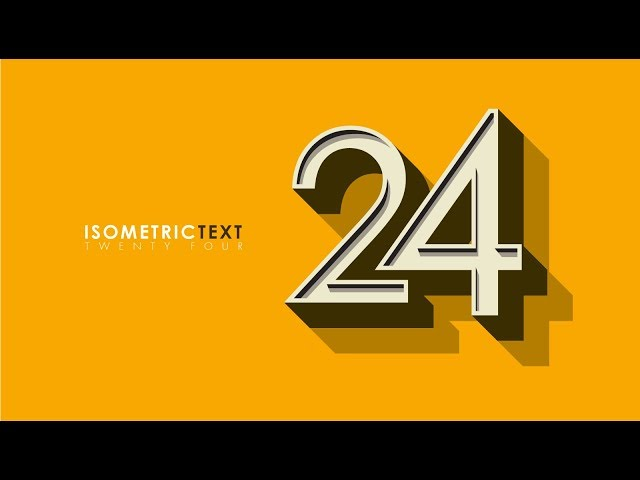 Create Isometric Text Effect | Illustrator Tutorial