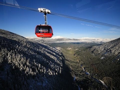 Whistler-Blackcomb Peak to Peak Gondola ride and Olympic venue Whistler Canada