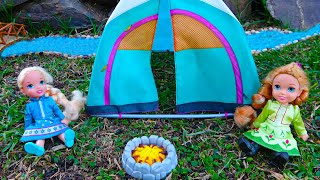 Download Elsa and Anna toddlers go camping Mp3 and Videos