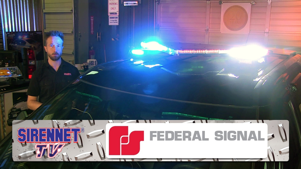 The Federal Signal Valor Light Bar on