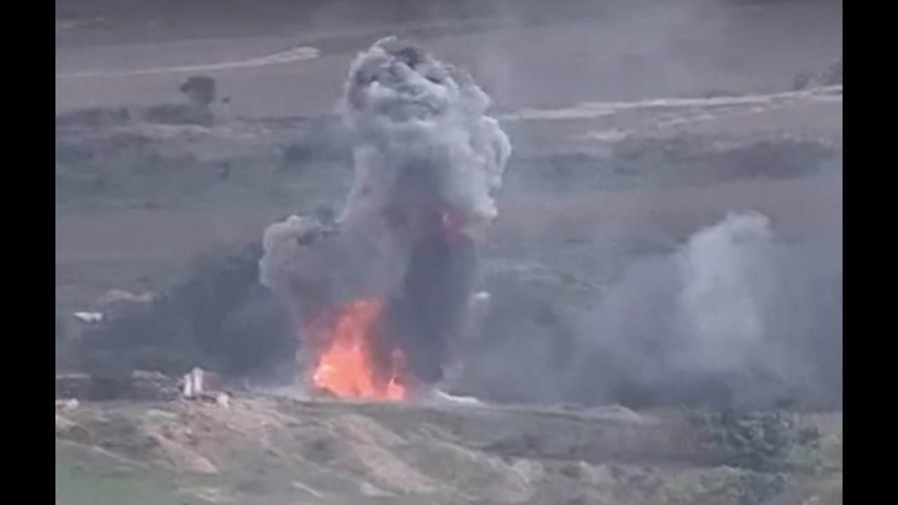 Армянские вооруженные силы продолжают уничтожать азербайджанские танки и бронетехнику
