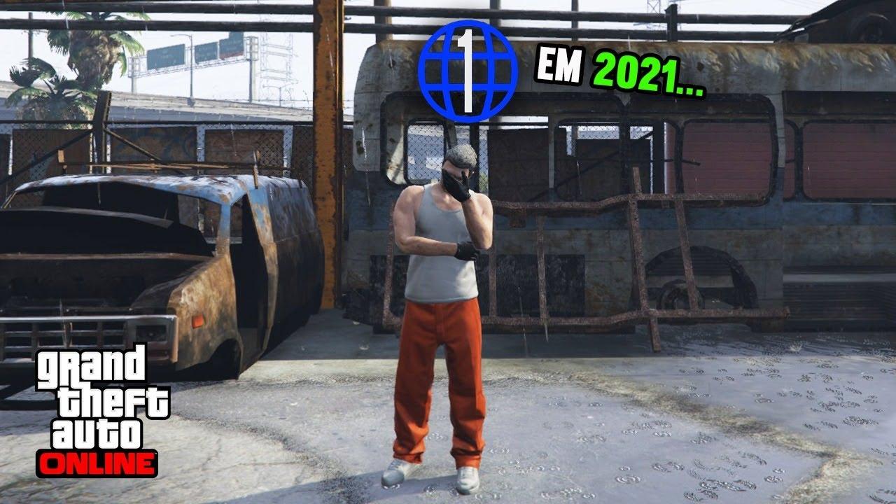 Comecei como nível 1 em 2021 ... GTA 5 online