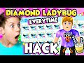 Does This HACK Get DIAMOND LADYBUGS Every Time in Roblox Adopt Me?! Farm Shop Update