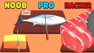 NOOB vs PRO vs HACKER  - Food Cutting screenshot 2