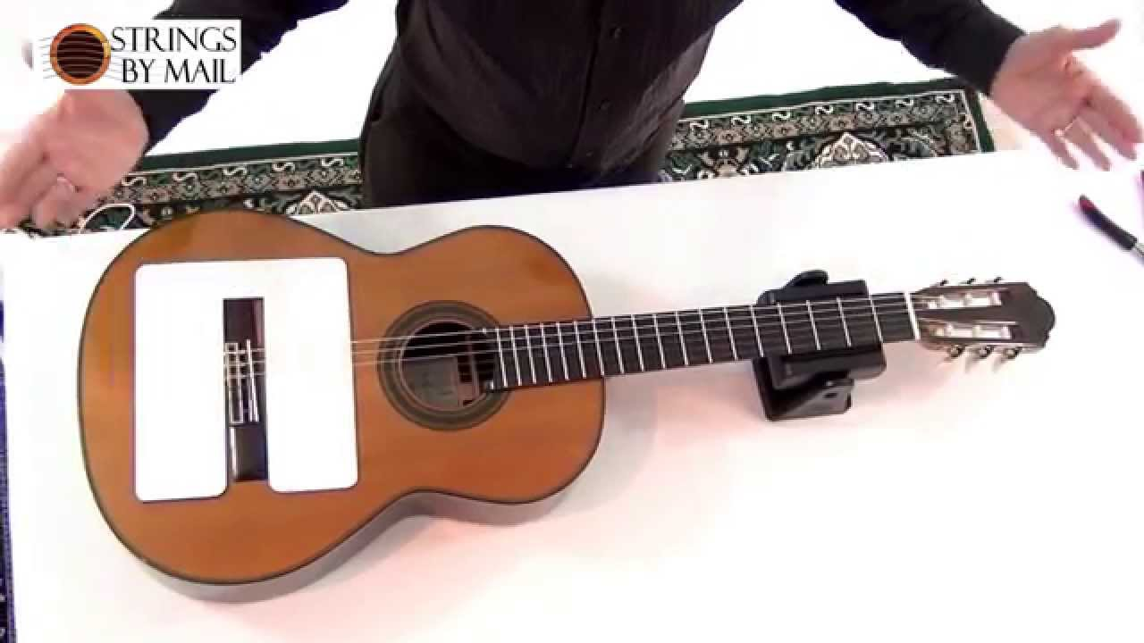 how to change classical guitar strings strings by youtube. Black Bedroom Furniture Sets. Home Design Ideas