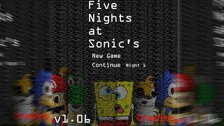 BoB Esponja no FIVE NIGHTS AT SONIC'S