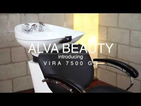 Smooth Lines 7500 - Shampoo Chair & Bowl / Backwash Unit Black