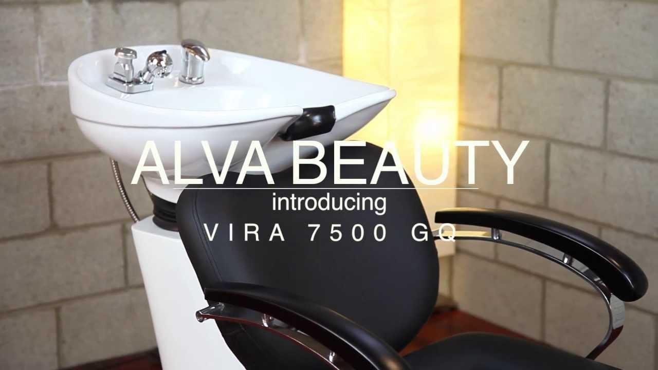 smooth lines 7500 shampoo chair bowl backwash unit black