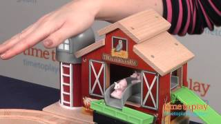 Thomas & Friends Wooden Railway Farmhouse Pig Parade Set from Fisher-Price