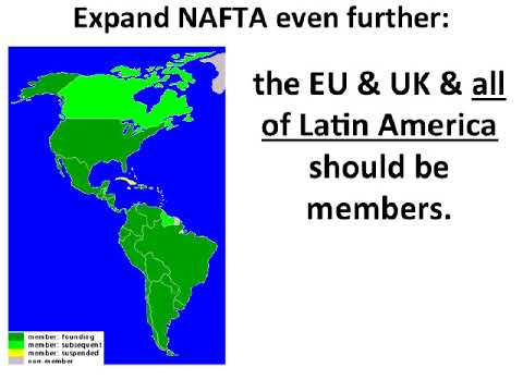 NAFTA should unite the western civilization and the latin american civilization