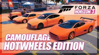 Forza Horizon 3 - Camouflage Hot Wheels Edition! (Mini Games & Random Fun)
