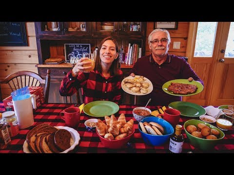 Eating Canadian Breakfast | Typical Canadian Food