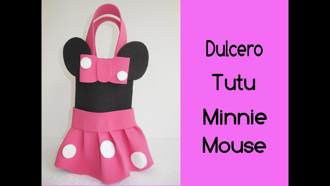 Dulcero tutu minnie mouse viyoutube - Manualidades minnie mouse ...