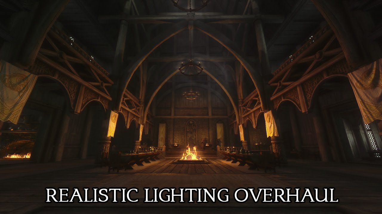 TES V - Skyrim: Realistic Lighting Overhaul - YouTube