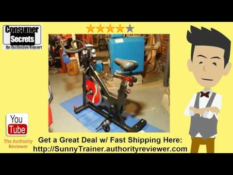 Thumbnail for Sunny Health & Fitness Indoor Cycle Trainer Review