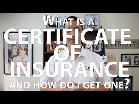 What is a Certificate of Liability Insurance and how do I get one?