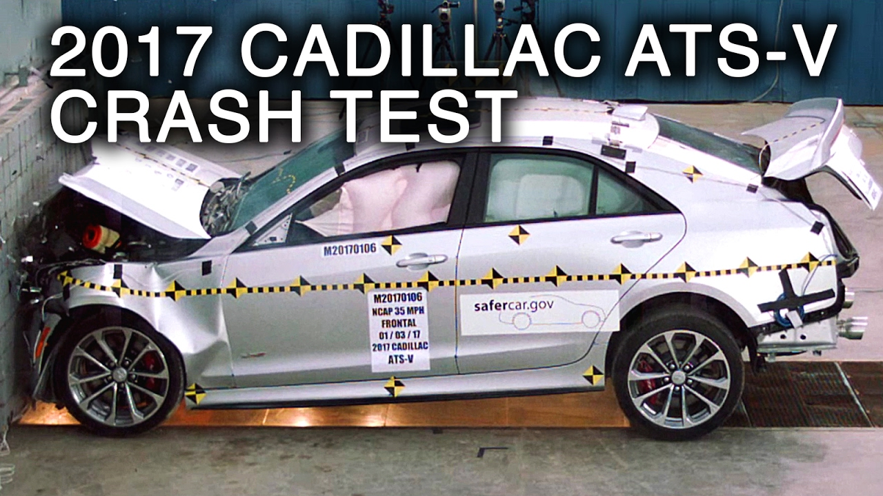 2017 cadillac ats v frontal crash test youtube. Black Bedroom Furniture Sets. Home Design Ideas
