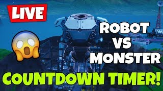 NOUVEAU COUNTDOWN TIMER ROBOT VS MONSTER - GIFTING BEACH BOMBER CUSTOM MATCHES (FORTNITE LIVE)
