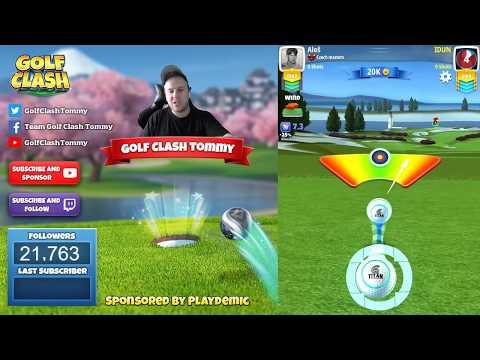 Golf Clash tips, Playthrough, Hole 1-9 - PRO - TOURNAMENT WIND! Platinum Resorts Tournament!