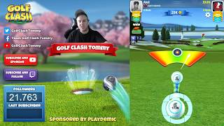 Golf Clash tips, Playthrough, Hole 1-9 - PRO - TOURNAMENT WIND! Platinum Resorts Tournament!