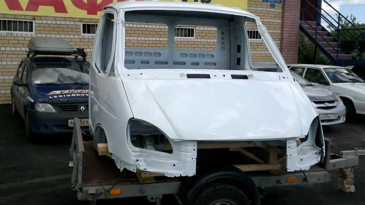 Кабина ГАЗ 3302 ГАЗель Бизнес в металле окрашенная под дв ...