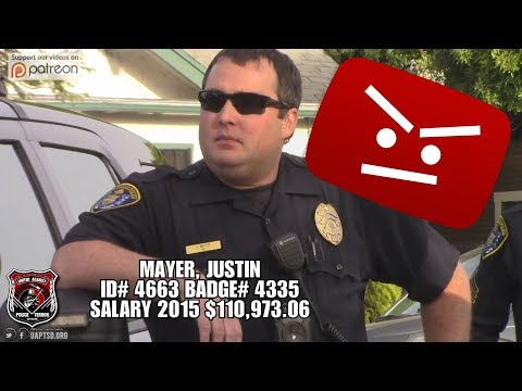 San Diego Police Officer Mayer Violates Youtube Privacy Policy