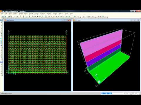 design of retaining wall using sap 2000 | تصميم جدار استنادي باستخدام برنامج ساب 2000