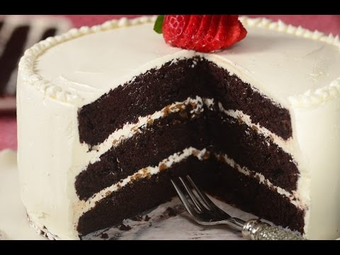 Chocolate Cake with Swiss Buttercream Recipe Demonstration -