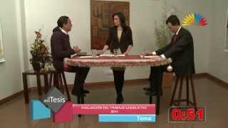 Tesis y Antítesis - Programa 57 - Evaluación del Trabajo Legislativo 2014
