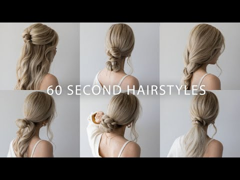 6 Quick Easy Hairstyles Cute Long Hair Hairstyles Youtube