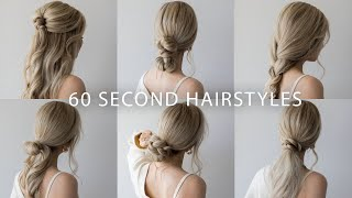 6 QUICK & EASY HAIRSTYLES | Cute Long Hair Hairstyles