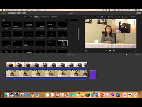 How to Create a News Report using iMovie