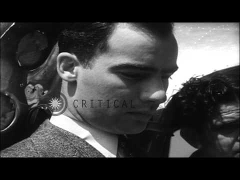 Dick Merill takes off in Lockheed L10E Electra for a trans Atlantic flight from N...HD Stock Footage