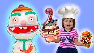 Арина играет в игру Toca Kitchen 2 | Готовим еду для виртуальных друзей