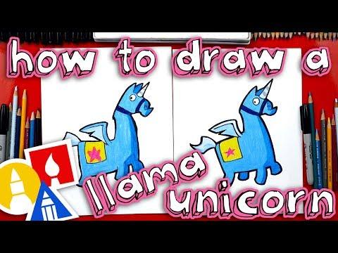 How To Draw Fortnite Unicorn Llama