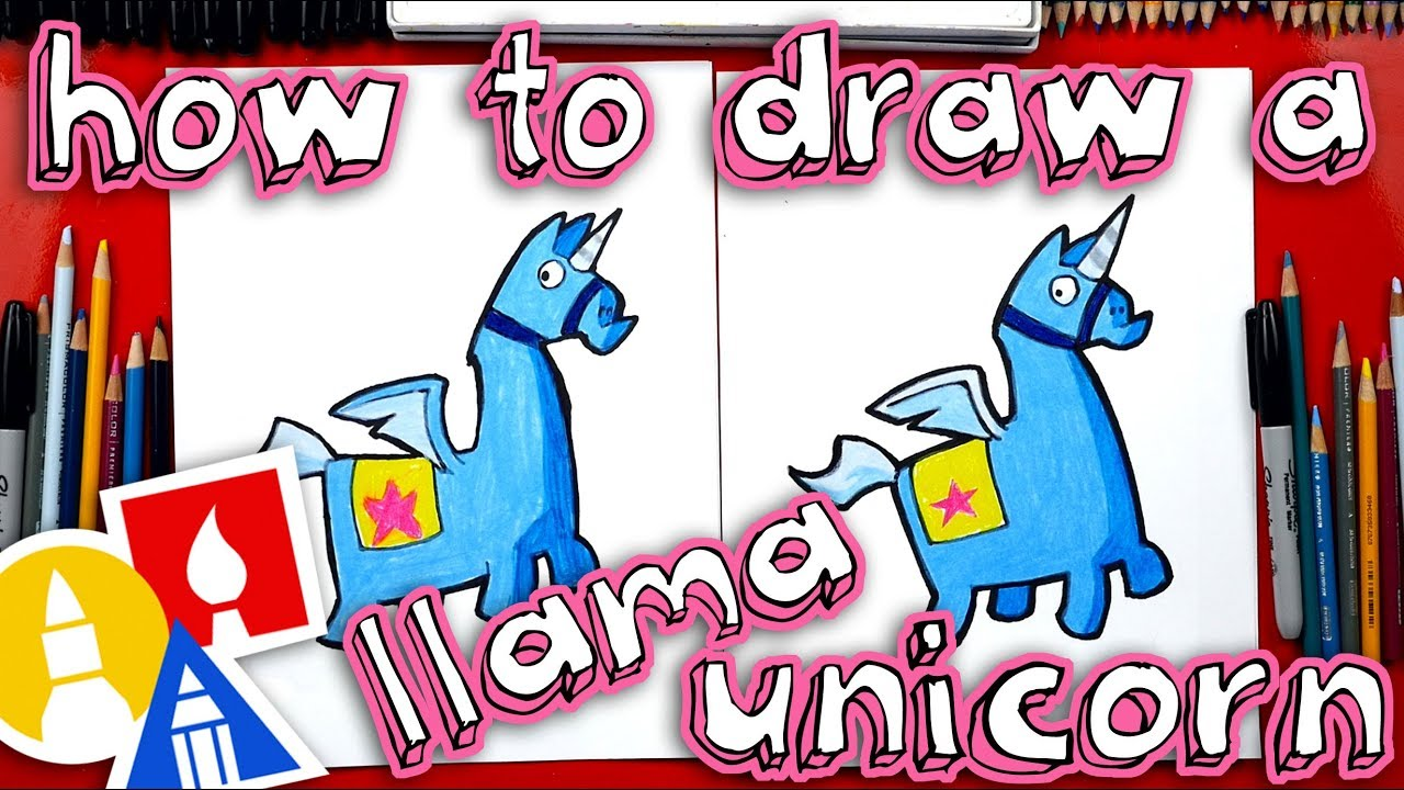 How To Draw Fortnite Unicorn Llama