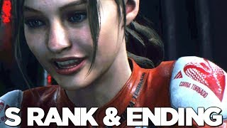 RESIDENT EVIL 2 REMAKE S RANK & CLAIRE A ENDING Walkthrough Gameplay Part 6 (RE2)