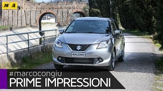Suzuki Baleno | Prime Impressioni(Leggi qui la prova: http://www.automoto.it/prove/suzuki-baleno-video.html Iscriviti per vedere tutti i video di Automoto.it https://www.youtube.com/subscription_., 2016-03-24T17:45:26.000Z)