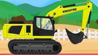 Koparka i Ciężarówka Maszyny Budowlane Bajka Dla Dzieci | Excavator And Truck Vehicles For Kids